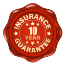 10 Year Insurance Guarantee Icon 135px