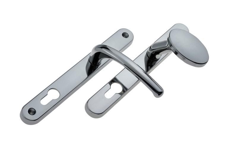 Chrome Lever Pad Door Handles