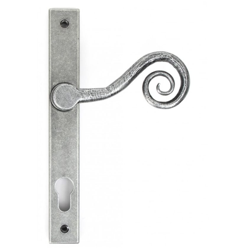 Composite Stable Door Traditional Monkey Tail Pewter Handle