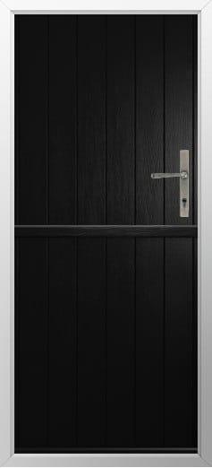 Stable Composite Door Flint Solid Black