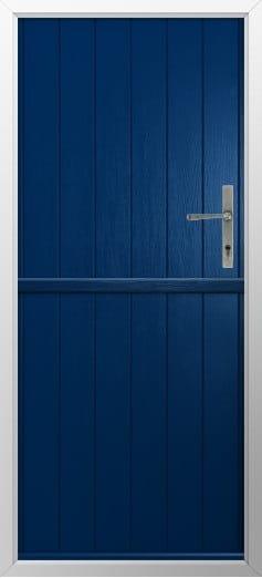 Stable Composite Door Flint Solid Blue