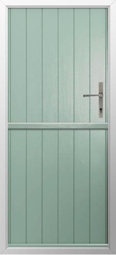 Stable Composite Door Flint Solid Chartwell Green