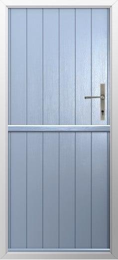Stable Composite Door Flint Solid Duck Egg Blue