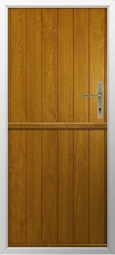 Stable Composite Door Flint Solid Golden Oak