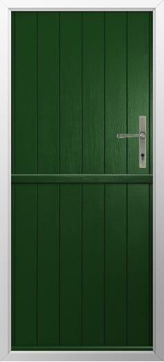 Stable Composite Door Flint Solid Green