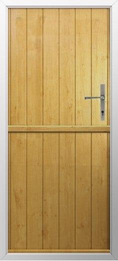 Stable Composite Door Flint Solid Irish Oak