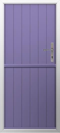 Stable Composite Door Flint Solid Lavender