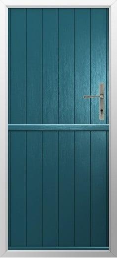Stable Composite Door Flint Solid Peacock Blue