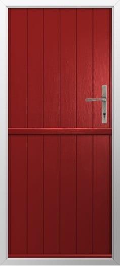Stable Composite Door Flint Solid Red