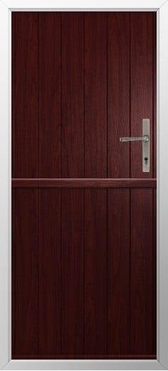 Stable Composite Door Flint Solid Rosewood