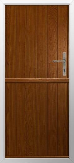 Stable Composite Door Flint Solid Walnut