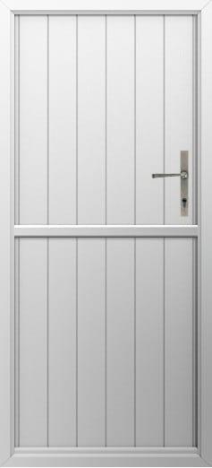 Stable Composite Door Flint Solid White