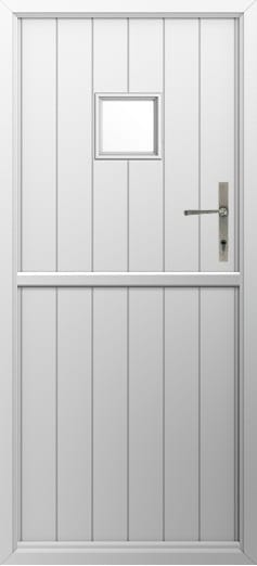 Stable Door Colours Flint Square White