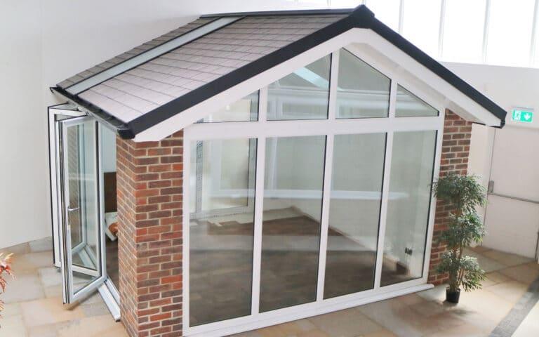 Polar Glaze Showroom Banner Warmroof Tiled Hybrid Conservatory 2560x1600px